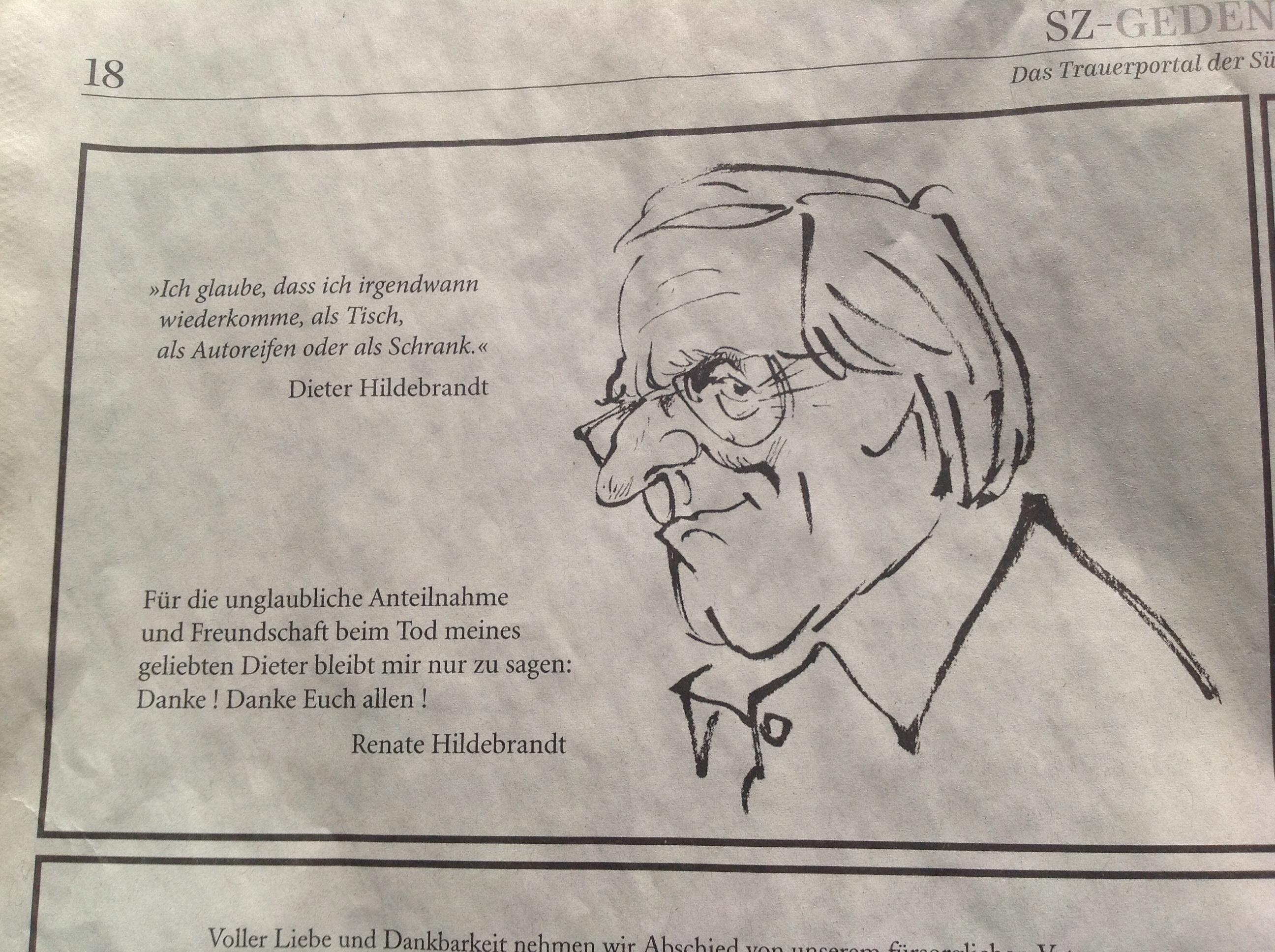 Dieter Hildebrandt Ich Komme Wieder Das Neue Handbuch