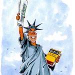 Diese Karikatur schenkte die TA-Redaktion zum 60. Geburtstag