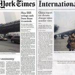 Links die Ausgabe der International New York Times mit Aufmacher über Thailand, rechts die Thailänder Ausgabe mit einem weißen Fleck statt Aufmacher.