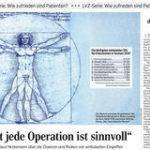 Die Leipziger Volkszeitung mit der preisgekrönten Serie zu ambulanten Operationen