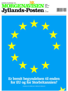 Die dänische Zeitung Jyllands-Posten nach dem Brexit