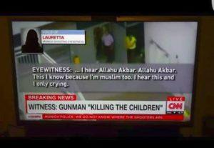 """Screenshot von CNN: """"Ich höre Allahu Akbar""""."""