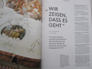 "Cicero interviewt Bodo Ramelow von der ""Linken"" im November-Heft 2016"
