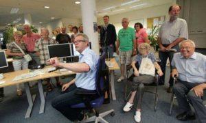Er mochte die Leser: Ernst-Günther Wöhler am Newsdesk am Volksstimme-Tag der offenen Tür