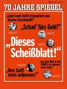 Der Titel des Jubiläumshefts: 70 Jahre Spiegel