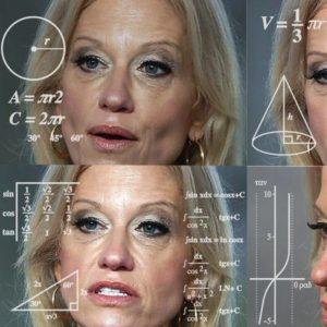 Kellyanne Conway ist Trumps Beraterin und eine Frau, die fast jedes Interview entgleisen lässt. Foto: Vox
