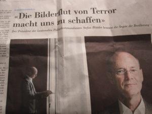 """""""Sommergespräch"""" der NZZ mit dem obersten Polizeikommandanten."""