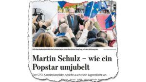 Ausriß der Braunschweiger Zeitung: Eine Leserin kritisiert diese Wahlkampf-Reportage.