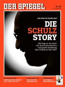Heft 40/2017 - Eines der meistverkauften Spiegel-Hefte in 2017 - dank der Story über den gescheiterten Kanzlerkandidaten Martin Schulz.