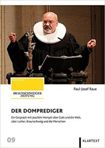 """Das Foto von Thomas Ammerpohl auf dem Cover des Buchs """"Der Domprediger""""."""