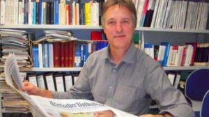 Hans-Jürgen Bucher ist Professor der Medienwissenschaft Trier. TV-Foto (2013) Marcel Wollscheid