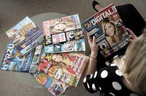 Eine Auswahl der Zeitschriften, die in der Funke-Gruppe erscheinen. Foto: Funkemedien