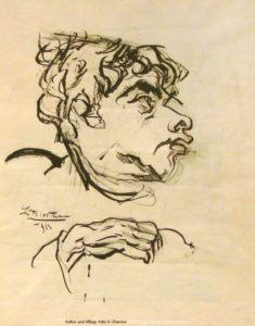 Jakob van Hoddis - Zeichnung Ludwig Meidner 1913